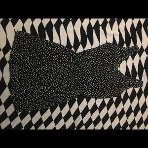 cute & short polka dress w/ built in slip